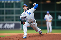Kentucky Wildcats starting pitcher Zack Thompson (14) in action against the Sam Houston State Bearkats in game four of the 2018 Shriners Hospitals for Children College Classic at Minute Maid Park on March 3, 2018 in Houston, Texas. The Wildcats defeated the Bearkats 7-2. (Brian Westerholt/Four Seam Images)