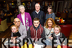 Sean Hogan celebrating his 16th birthday from Hunters Wood, Tralee at O'Donells with family on Friday. Pictured John Breen, Maeve Breen  Sean Hogan Miriam Breen, Grianne Breen Back L-R Rosaline Mangan, John Mangan and Deirdre Mangan