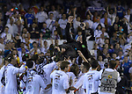 Real Madrid CF celebrates during the Spanish King's Cup Final football match Real Madrid Madrid CF vs FC Barcelona  at the Mestalla stadium in Valencia on April 16, 2014  PHOTOCALL3000 / DP