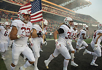 Corvallis, OR - Thursday, October 26, 2017: The Stanford Cardinal football team defeated the Oregon State Beavers, 15-14 at Reser Stadium.