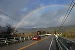 Rainbow at Cloverdale bridge over Russian River
