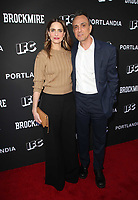 NORTH HOLLYWOOD, CA - MAY 15: Amanda Peet, Hank Azaria, at IFC Hosts &quot;Brockmire&quot; And &quot;Portlandia&quot; EMMY FYC event at Saban Media Center at the Television Academy, Wolf Theatre in North Hollywood, California on May 15, 2018. <br /> CAP/MPIFM<br /> &copy;MPIFM/Capital Pictures
