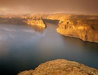 Sunrise with fog on Lake Billy Chinook, Oregon