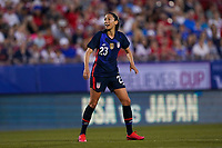 11th Mach 2020, Frisco, Texas, USA;  Christen Press of the USA celebrates her goal during the 2020 SheBelieves Cup Womens International Friendly,  football match between USA Women versus Japan Women at Toyota Stadium in Frisco, Texas, USA.