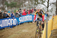 Klaas Vantornout (BEL) doing some recon laps<br /> <br /> UCI Worldcup Heusden-Zolder Limburg 2013