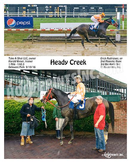 Heady Creek winning at Delaware Park on 9/19/16