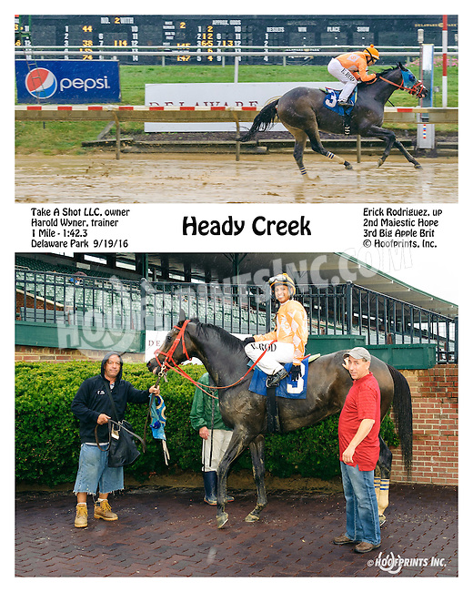 Heady Creek winning at Delaware Park on 9/19/16