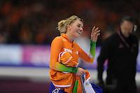 SCHAATSEN: HEERENVEEN: IJsstadion Thialf, 12-01-2013, Seizoen 2012-2013, Essent ISU EK allround, 500m Ladies, Linda de Vries (NED), ©foto Martin de Jong