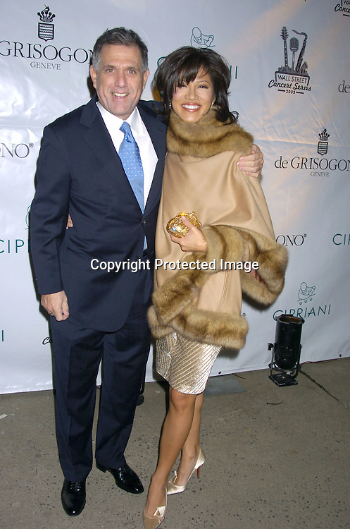 Les Moonves and Julie Chen ..at The 2005 Wall Street Concert Series benefitting Wall Street Rising on March 15, 2005 at Cipriani. Rod Stewart was performing tonight. ..Photo by Robin Platzer, Twin Images