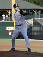 July 24, 2004:  Pitcher Brian Reith of the Louisville Bats, Triple-A International League affiliate of the Cincinnati Reds, during a game at Frontier Field in Rochester, NY.  Photo by:  Mike Janes/Four Seam Images