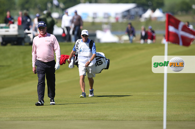 Miguel Angel Jimenez (ESP) approaches the third green during Round Two of the 2015 Nordea Masters at the PGA Sweden National, Bara, Malmo, Sweden. 05/06/2015. Picture David Lloyd | www.golffile.ie