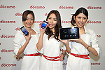 February 24, 2011 - Tokyo, Japan - Models show NTT Docomo's new smartphones at presentation in Tokyo. NTT Docomo unveils three new smartphone models: the XPERIA, the Medias and the Optimus. (Photo by Koichi Mitsui/AFLO)