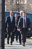 In Washington, DC on February 25, 2010, United States President Barack Obama and U.S. Vice President Joseph Biden walk from the White House to the nearby Blair House where the President is hosting a bipartisan meeting with members of Congress to discuss health reform legislation..Credit: Jim Lo Scalzo / Pool via CNP