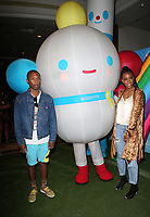 LOS ANGELES, CA - AUGUST 10: Pharrell Williams and Kelly Rowland at the Netflix Series Premiere Of True And The Rainbow Kingdom at the Pacific Theatres at The Grove in Los Angeles, California on August 10, 2017. Credit: Faye Sadou/MediaPunch