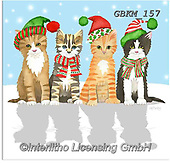 Kate, CHRISTMAS ANIMALS, WEIHNACHTEN TIERE, NAVIDAD ANIMALES, paintings+++++Christmas page 46 1,GBKM157,#xa# ,cat,cats
