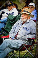 """Hip hat fashion at the 4th annual """"Jammin' in the Hammock"""" Bluegrass Festival, Collier Seminole State, Naples, Florida, USA, 2011. Photos by Debi Pittman Wilkey"""