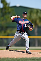 Minnesota Twins pitcher Ethan Mildren (60) during a minor league spring training game against the Baltimore Orioles on March 28, 2015 at the Buck O'Neil Complex in Sarasota, Florida.  (Mike Janes/Four Seam Images)