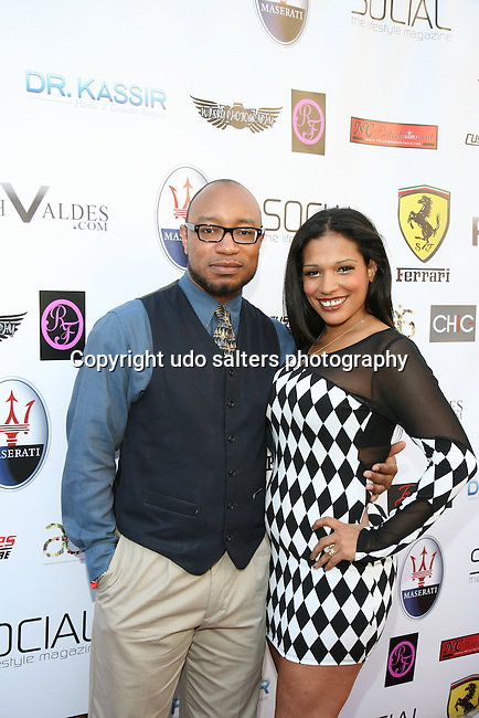 The Firm of the 5 Boroughs' CEO Quentin Cockrell and Ramado Face own llc.'s Trish Ramado Attend Metropolitan Bikini Fashion Weekend 2013 Held at BOA Sponsored by Social Magazine, Maserati and Ferrari, Hoboken NJ