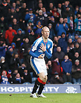 Kenny Miller after taking a boot in the chest