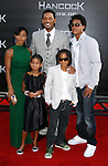 "Actress Jada Pinkett Smith, actress Willow Smith, Actor Will Smith, actor Jaden Smith and Trey Smith (L-R) arrive to The World Premiere of Columbia Pictures' ""Hancock"" at the Grauman's Chinese Theatre on June 30, 2008 in Hollywood, California.arrive to The World Premiere of Columbia Pictures' ""Hancock"" at the Grauman's Chinese Theatre on June 30, 2008 in Hollywood, California."