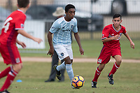 Frisco, TX - October 20, 2017: The U.S. Soccer Development Academy 2017 U-13/U-14 Central Regional Showcase at Toyota Soccer Center.