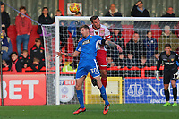 Jorge Grant of Notts County and Luke Wilkinson of Stevenage during Stevenage vs Notts County, Sky Bet EFL League 2 Football at the Lamex Stadium on 11th November 2017