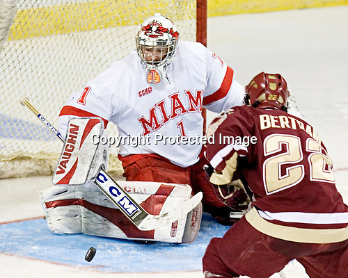 Charlie Effinger, Dan Bertram - The Boston College Eagles defeated the Miami University Redhawks 5-0 in their Northeast Regional Semi-Final matchup on Friday, March 24, 2006, at the DCU Center in Worcester, MA.