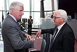 Brussels - Belgium, June 05, 2012 -- MdB Frank-Walter STEINMEIER (ri), chairman of the SPD's parliamentary group in the Bundestag (German Parliament), for political talks in Brussels; here, with Michel BARNIER (le), European Commissioner in charge of Internal Market and Services -- Photo: © HorstWagner.eu