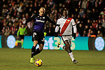 Rayo Vallecano's Luis Advincula and CD Leganes's Martin Braithwaite during La Liga match between Rayo Vallecano and CD Leganes at Vallecas Stadium in Madrid, Spain. February 04, 2019. (ALTERPHOTOS/A. Perez Meca)