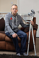 Pictured: Andrew Kerslake at his home in Lllanharan, south Wales. Tuesday 03 November 2015<br />  Re: Helen Tippett, the wife of Andrew Kerslake is using new divorce laws to claim £100,000 out of the £175,000 he was given in 1997 as compensation for historic sex abuse