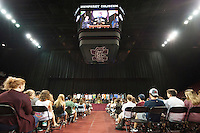 2016 Fall Convocation in Humphrey Coliseum: President Mark E. Keenum addresses the students.<br />  (photo by Megan Bean / &copy; Mississippi State University)