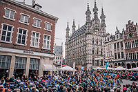 start of the 58th De Brabantse Pijl 2018 (1.HC) in front of the ancient Leuven town hall.<br /> <br /> 1 Day Race: Leuven - Overijse (BEL/202km)