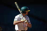 Nick Loftin (2) of the Baylor Bears at bat against the Missouri Tigers in game one of the 2020 Shriners Hospitals for Children College Classic at Minute Maid Park on February 28, 2020 in Houston, Texas. The Bears defeated the Tigers 4-2. (Brian Westerholt/Four Seam Images)