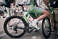 'green' Arnaud D&eacute;mare (FRA/FDJ) at the start<br /> <br /> 104th Tour de France 2017<br /> Stage 7 - Troyes &rsaquo; Nuits-Saint-Georges (214km)