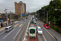 A tram on the Toden Arakawa Line in Oji, Tokyo, Japan. Friday September 18th 2015