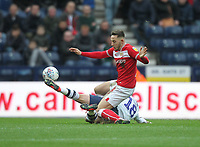 Preston North End's Ryan Ledson in action Bristol City's Callum O'Dowda<br /> <br /> Photographer Mick Walker/CameraSport<br /> <br /> The EFL Sky Bet Championship - Preston North End v Bristol City - Saturday 2nd March 2019 - Deepdale Stadium - Preston<br /> <br /> World Copyright © 2019 CameraSport. All rights reserved. 43 Linden Ave. Countesthorpe. Leicester. England. LE8 5PG - Tel: +44 (0) 116 277 4147 - admin@camerasport.com - www.camerasport.com