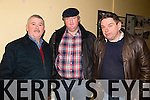Pictured at the North Kerry finals of the Senior Scor which took place on Saturday night in Marian Hall, Moyvane were L-R: Noel Fennel, Ballylongford, Eamon O'Neill, Ballydonoghue and Donal Dalton, Asdee.