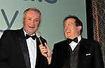 Mikey Sheehy, Football Hall of Fame pictured wiith marty Morrissey at the Bord G&aacute;is Energy Munster GAA Sports Star of the Year Awards in The Malton Hotel, Killarney on Saturday.  Picture by Don MacMonagle<br /> <br /> PR photo from Munster Council