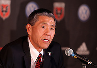 WASHINGTON, DC-JULY 10,2012:  Will Chang during a D.C. United ownership press conference at the POV Lounge in the W Hotel, Washington, DC.