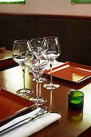 Restaurant and wine bar La Part des Anges. Beaune, cote de Beaune, d'Or, Burgundy, France