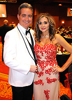 NWA Democrat-Gazette/JOCELYN MURPHY<br /> John Williams, emcee of the 15th annual Kiss a Pig Gala benefiting the American Diabetes Association, and his wife Judy enjoy the event on March 11 at the John Q. Hammons Center in Rogers.