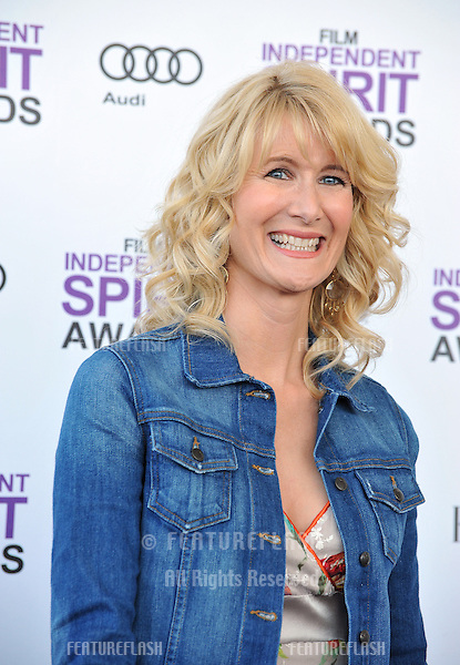 Laura Dern at the 2012 Film Independent Spirit Awards on the beach in Santa Monica, CA..February 25, 2012  Santa Monica, CA.Picture: Paul Smith / Featureflash