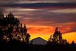 Mount Shasta Sunset, as seen from Adin, Northeastern, California.