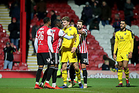 Tempers flare after the final whistle as the crowd heads for home during Brentford vs Oxford United, Emirates FA Cup Football at Griffin Park on 5th January 2019