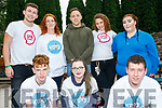 Teenagers from the KDYS in Killorglin who helped organise the Killorglin KDYS street feast on Friday last. <br /> Front left to right Kian Falvey, Melissa Cahillane and Oisin &Oacute; C&eacute;arnaigh. <br /> Back left to right Brian Murphy (Spin Fm)  Caroline Mandall, Kerry footballer Darren O'Sullivan, Rokaia Jedir (Spin Fm) and Siobhan O'Byrne.