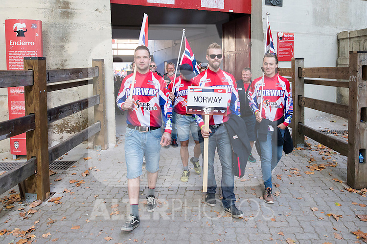 Norway enduro team during the presentation of the FIM international six days of enduro 2016 in Pamplona, Spain. October 09, 2016. (ALTERPHOTOS/Rodrigo Jimenez)