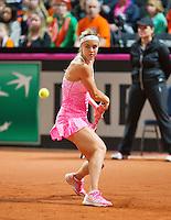 Februari 07, 2015, Apeldoorn, Omnisport, Fed Cup, Netherlands-Slovakia,   Anna Karolína Schmiedlová, (SLO)<br /> Photo: Tennisimages/Henk Koster