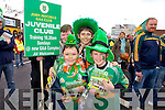St. Patrick's Day Parade Tralee : Enjoying the Parade Ryan O'Neil, Robert O'Neil, Will Leahy, Gearoid O'Brien,