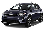 2018 KIA Stonic Sense 5 Door SUV angular front stock photos of front three quarter view