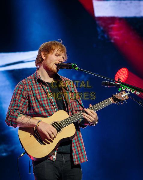 LAS VEGAS, NV - August 29: Ed Sheeran performs at The Chelsea at The Cosmopolitan pf Las Vegas in Las Vegas, NV on August 29, 2014.  <br /> CAP/MPI/RTNKabik<br /> &copy;RTNKabik/MediaPunch/Capital Pictures